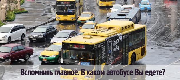 Вспомнить главное. В каком автобусе Вы едете?