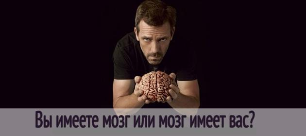 Вы имеете мозг или мозг имеет вас?